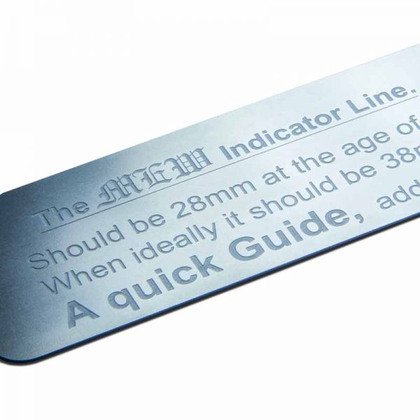 The Mew Indicator Line Ruler detail